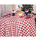Creative Converting 82\u0027\u0027 Plastic Round Table Cover-Red Gingham