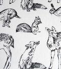 Snuggle Flannel Fabric 42\u0022-Bw Woodland Animals