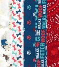 Fat Quarter Bundle Cotton Fabric 18\u0027\u0027-Dog Print