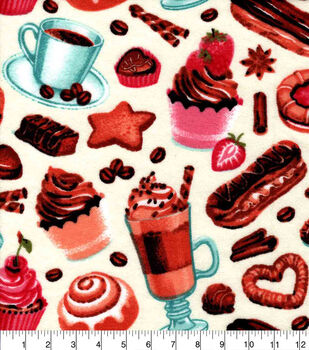 Snuggle Flannel Fabric-Sophisticated Pastries