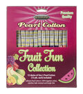 Sullivans Fruit Fun 12pcs Size 5 Pearl Cotton Thread 15 yds