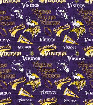 Minnesota Vikings Cotton Fabric Retro Joann