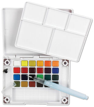 Koi Watercolor Pocket Field Sketch Box - 24 Colors-Assorted Colors