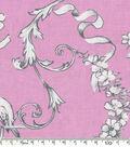 Keepsake Calico Cotton Fabric 43\u0022-Pretty Birds On Pink
