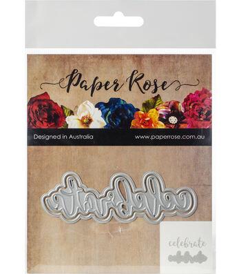 Paper Rose 2 pk Layered Metal Dies-Celebrate