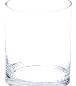 Glass Cylinder Vase 5''x8''-Clear