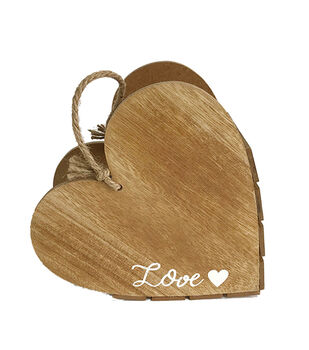 Save the Date Wooden Heart Box-Love