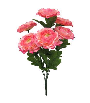 Fresh Picked Spring 16.5'' Ranunculus Bush-Pink