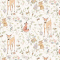 Nursery Cotton Fabric-Allover Woodland