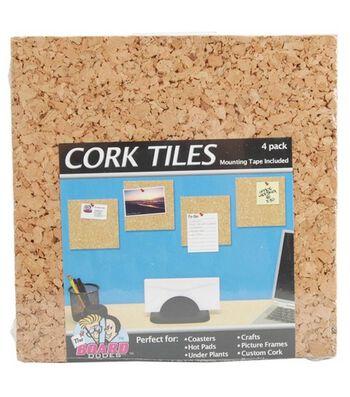 "Board Dudes 6""x6"" Cork Tiles"