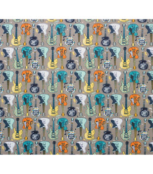 Super Snuggle Flannel Fabric-Pattern Trap Guitars