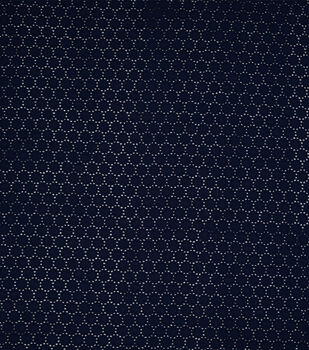 Speciality Cotton Fabric -Navy Dots