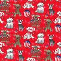Patriotic Cotton Fabric-Dog Patriotic Red Glitter