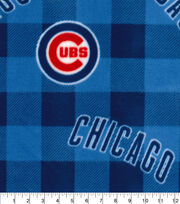 Chicago Cubs Fleece Fabric-Buffalo Plaid, , hi-res