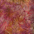 Batik Cotton Fabric-Burgundy Rustic Leaves