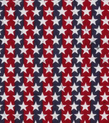 Patriotic Cotton Fabric 43''-Stars on Stripes