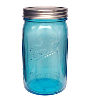 Ball Wide Mouth Canning Jar -Quart Blue