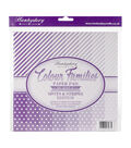 Hunkydory Color Families Paper Pad 8X8 48/Pk-Purple Spots & Stripes