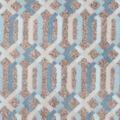 Luxe Fleece Fabric -Spa Lattice Grey Heather