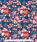 Kathy Davis Apparel Rayon Fabric -Multi Color Floral