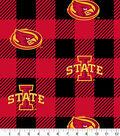 Iowa State Cyclones Fleece Fabric-Buffalo Plaid