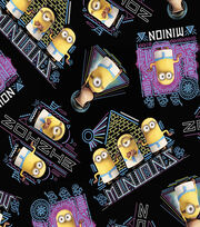 Minions Egyptian Cotton Fabric 44''-Black, , hi-res