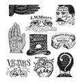 Tim Holtz Cling Stamps 7\u0027\u0027X8.5\u0027\u0027-Eclectic Adverts