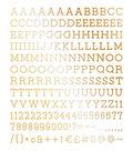 DCWV Home 188 Pack 1\u0027\u0027 Letters-Gold