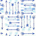 Soft & Comfy Fleece Fabric-Blue Arrows