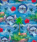 Disney Lilo & Stitch Cotton Fabric -Hawaiian Nights