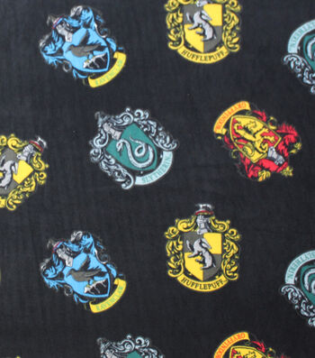 "Harry Potter Fleece Fabric 58""-Houses"