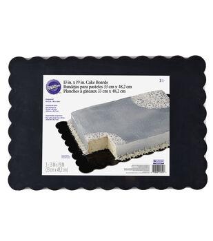 Wilton Scalloped Black Cake Boards