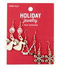 hildie & jo Holiday Jewelry Gold Snowflake, Tree & Angel Earrings