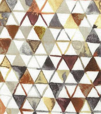 Premium Wide Cotton Fabric-Natural Watercolor Triangles