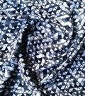 Stretch Chiffon Fabric -Black & White Triangles