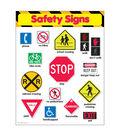 Safety Signs Learning Chart 17\u0022x22\u0022 6pk