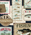 Snuggle Flannel Fabric -Gone Fishing