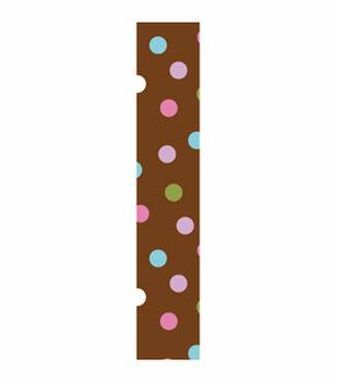 Offray Craft Ribbon-Multi Dot Chocolate