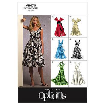 Vogue Patterns Misses Dress-V8470