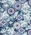 Anti-Pill Plush Fabric-Blue & Green Floral