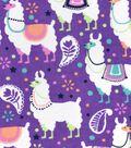 Snuggle Flannel Fabric 42\u0022-Festive Llamas