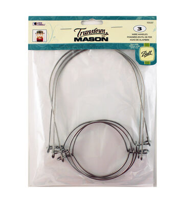 Loew-Cornell Ball Transform Mason 3 pk Jar Wire Handles