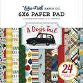 Echo Park Paper Co. A Dog\u0027s Tail 24-sheet 6\u0027\u0027x6\u0027\u0027 Double-sided Paper Pad