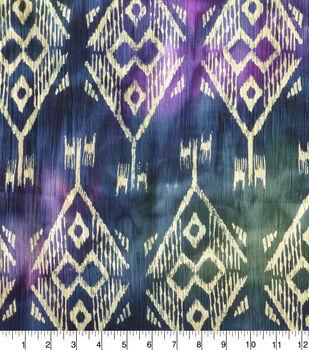 Crinkle Cotton 42''-Navy & Burgundy Diamond Batik