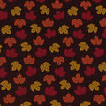 Harvest Cotton Fabric-Brown Mini Tossed Leaves