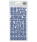 Thickers Flocked Chipboard Stickers 6\u0022X11\u0022 Sheets 2/Pkg-Letterman