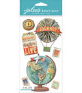 Jolee\u0027s Boutique Dimensional Stickers-Map Medallions