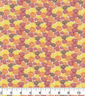Harvest Cotton Fabric-Mini Packed Mums