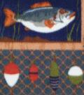 Anti-Pill Fleece Fabric -Wild Fishing Patch