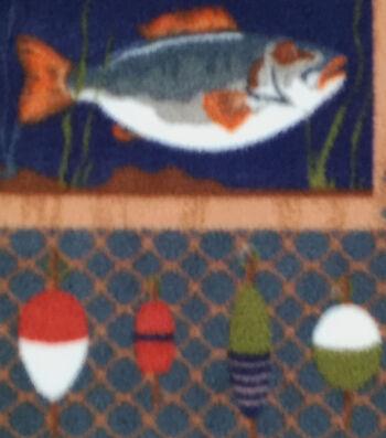 Anti-Pill Fleece Fabric 59''-Wild Fishing Patch